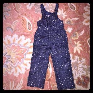 Starry Snow Bibs size 4 OshKosh B'gosh Snow Pants